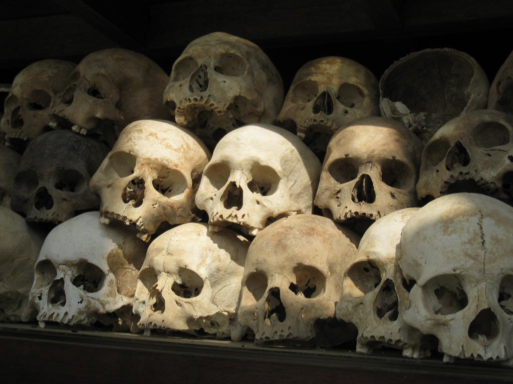 skulls in the stupa